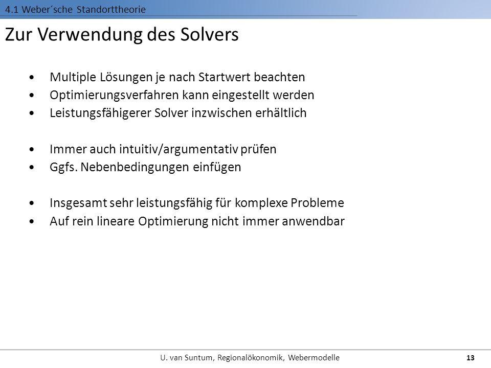Zur Verwendung des Solvers