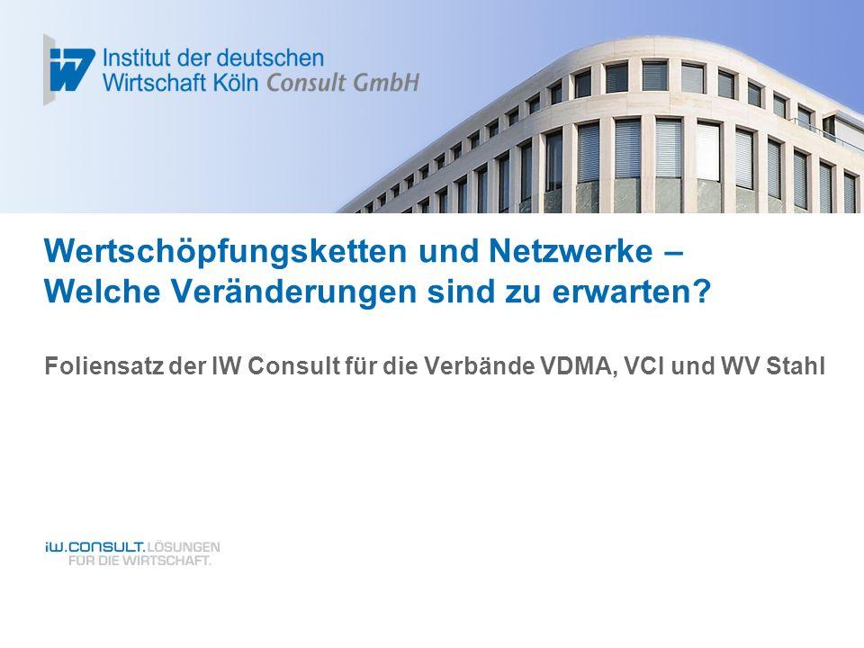 Foliensatz der IW Consult für die Verbände VDMA, VCI und WV Stahl