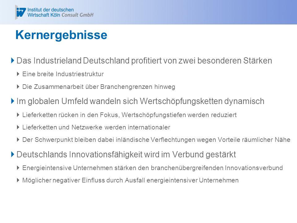 KernergebnisseDas Industrieland Deutschland profitiert von zwei besonderen Stärken. Eine breite Industriestruktur.