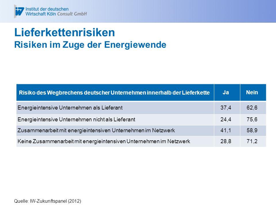Lieferkettenrisiken Risiken im Zuge der Energiewende