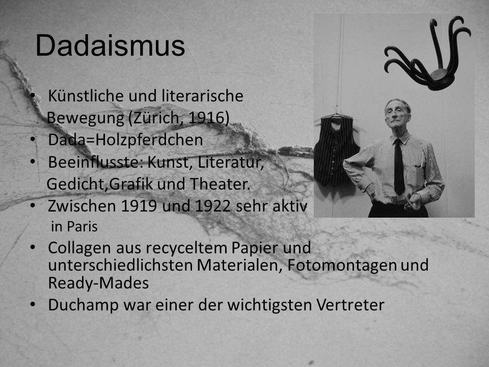 Dadaismus Künstliche und literarische Bewegung (Zürich, 1916)