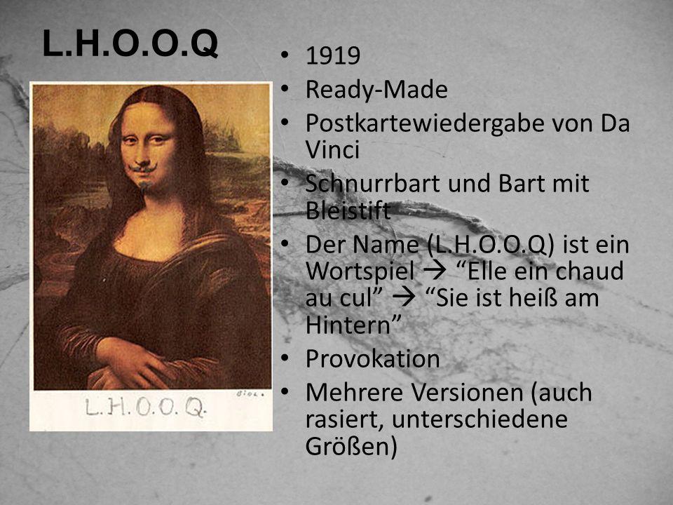 L.H.O.O.Q 1919 Ready-Made Postkartewiedergabe von Da Vinci
