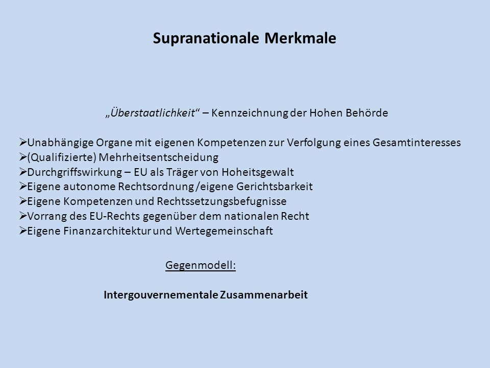 Supranationale Merkmale
