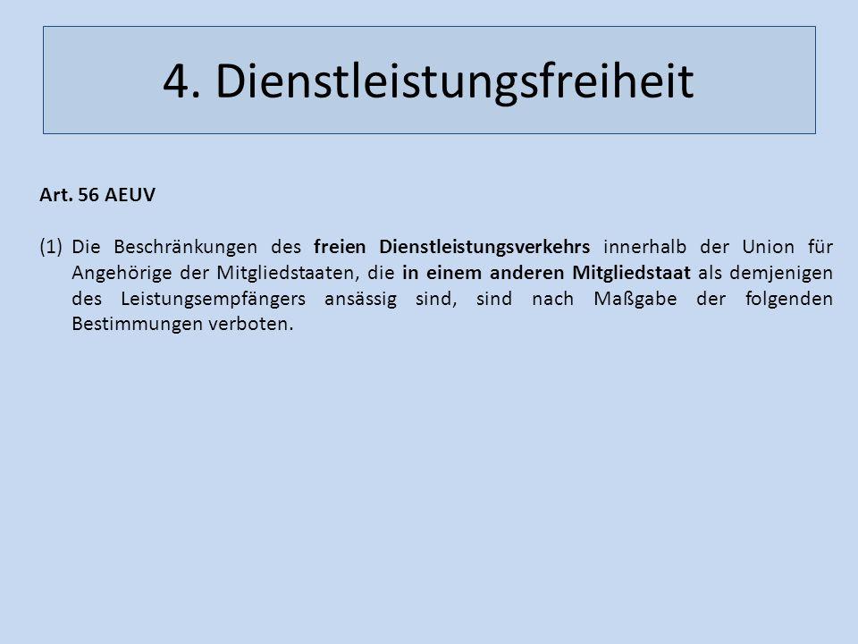 4. Dienstleistungsfreiheit