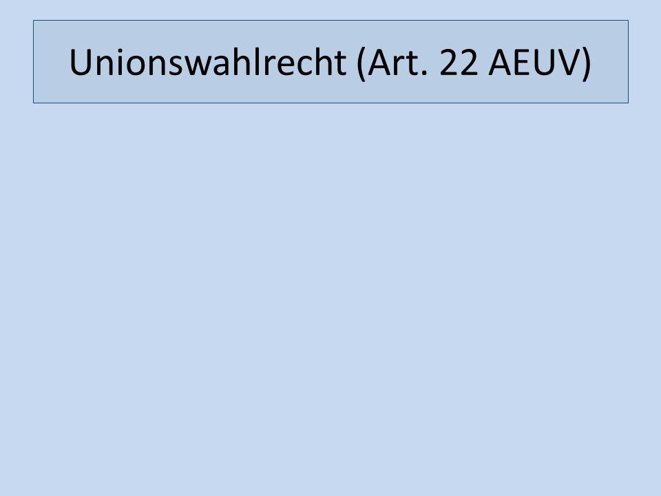 Unionswahlrecht (Art. 22 AEUV)