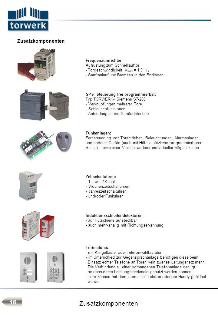 Zusatzkomponenten 16 Zusatzkomponenten Frequenzumrichter