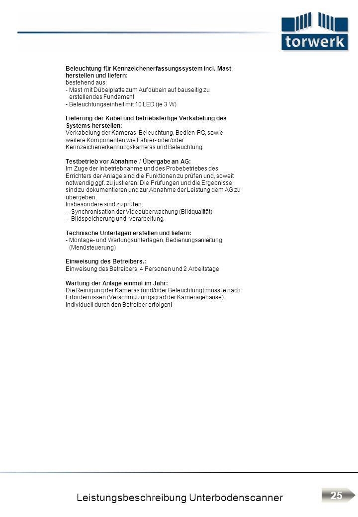 Leistungsbeschreibung Unterbodenscanner