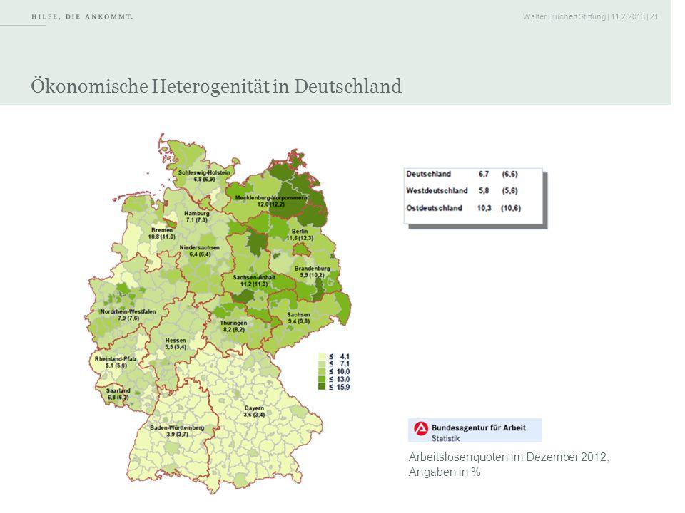 Ökonomische Heterogenität in Deutschland