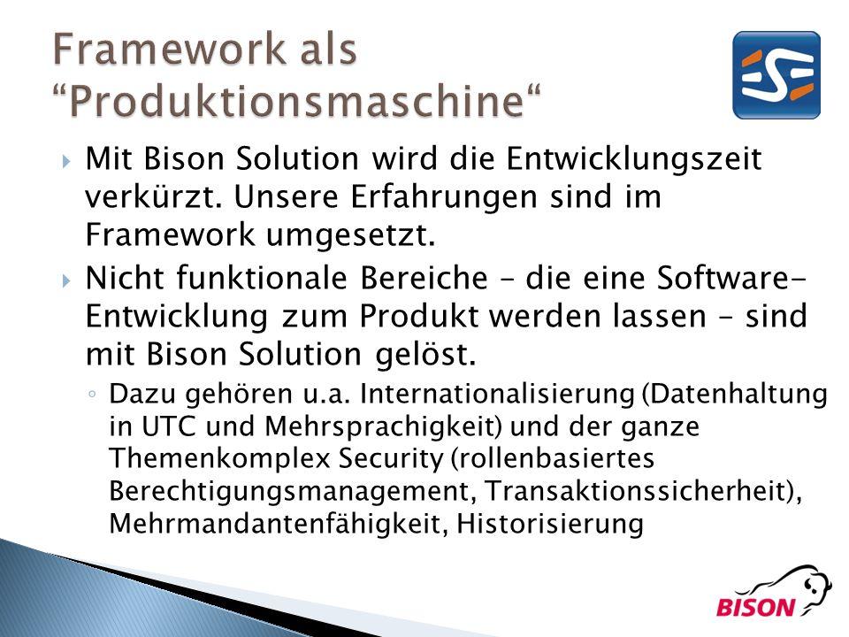 Framework als Produktionsmaschine