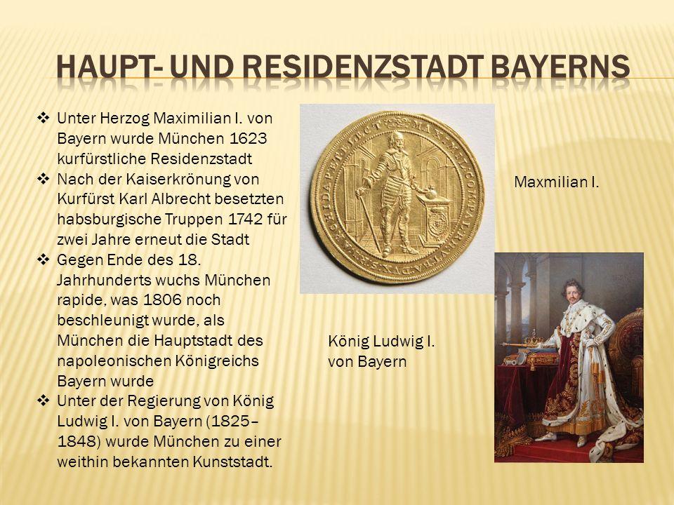 Haupt- und Residenzstadt Bayerns
