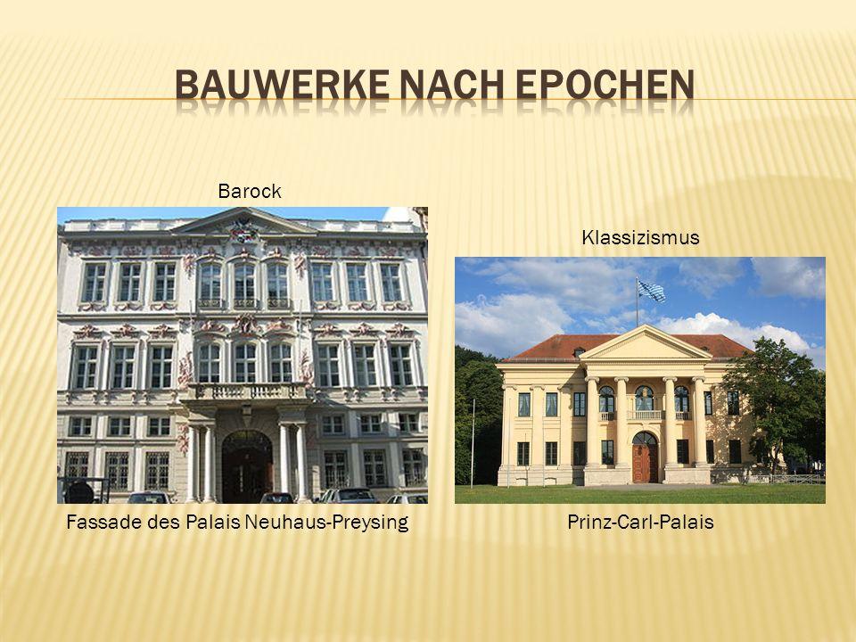 Bauwerke nach Epochen Barock Klassizismus