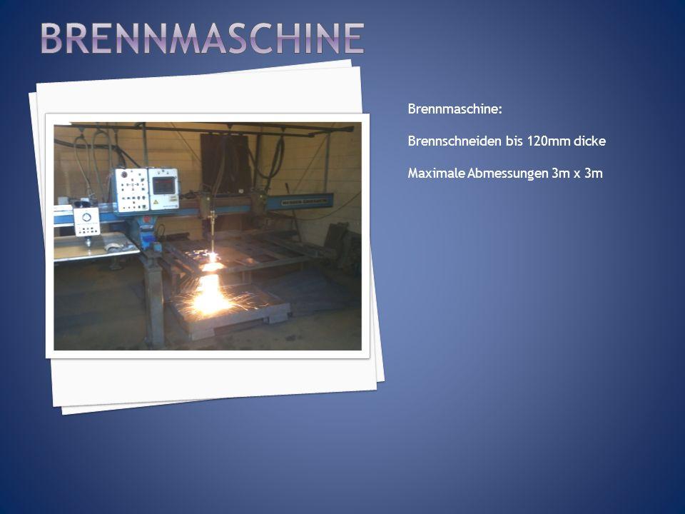 Brennmaschine Brennmaschine: Brennschneiden bis 120mm dicke