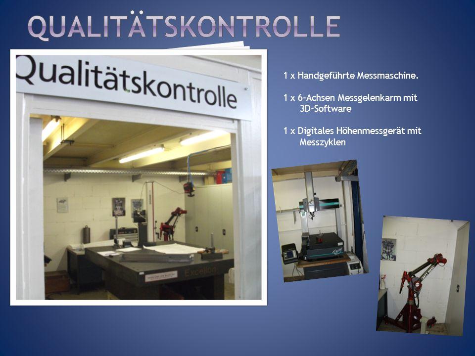 qUALITÄTSKONTROLLE 1 x Handgeführte Messmaschine.