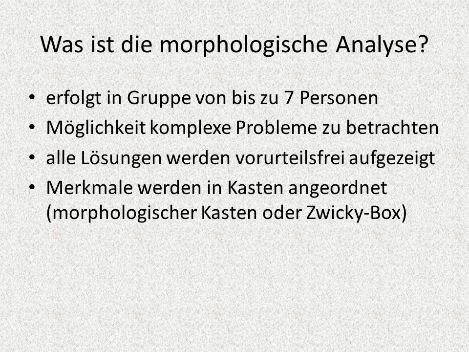Was ist die morphologische Analyse