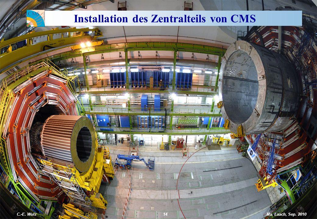 Installation des Zentralteils von CMS