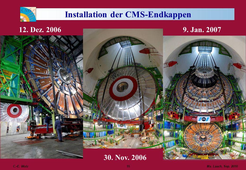 Installation der CMS-Endkappen
