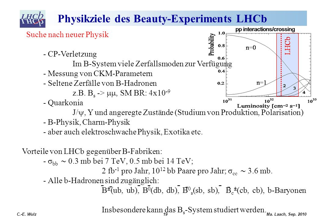 Physikziele des Beauty-Experiments LHCb