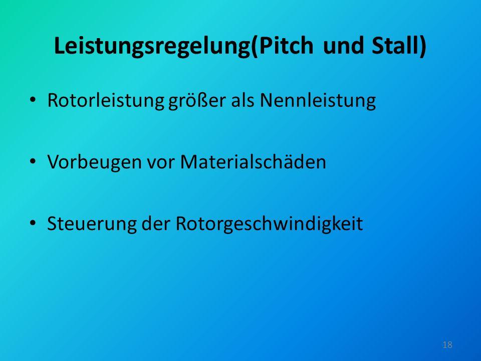 Leistungsregelung(Pitch und Stall)