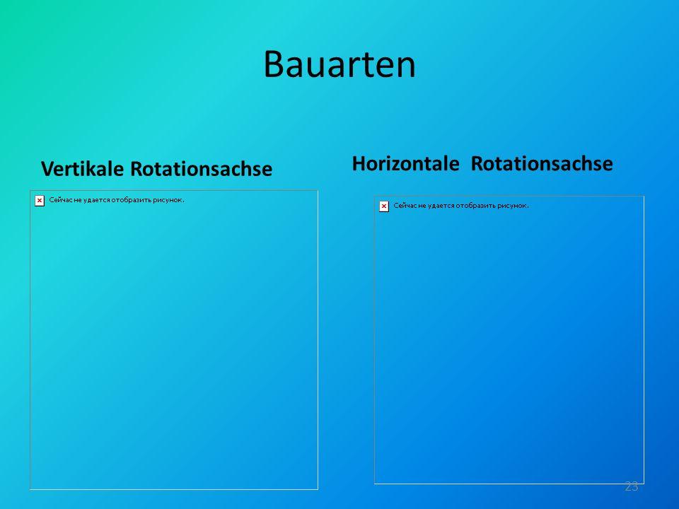 Bauarten Horizontale Rotationsachse Vertikale Rotationsachse