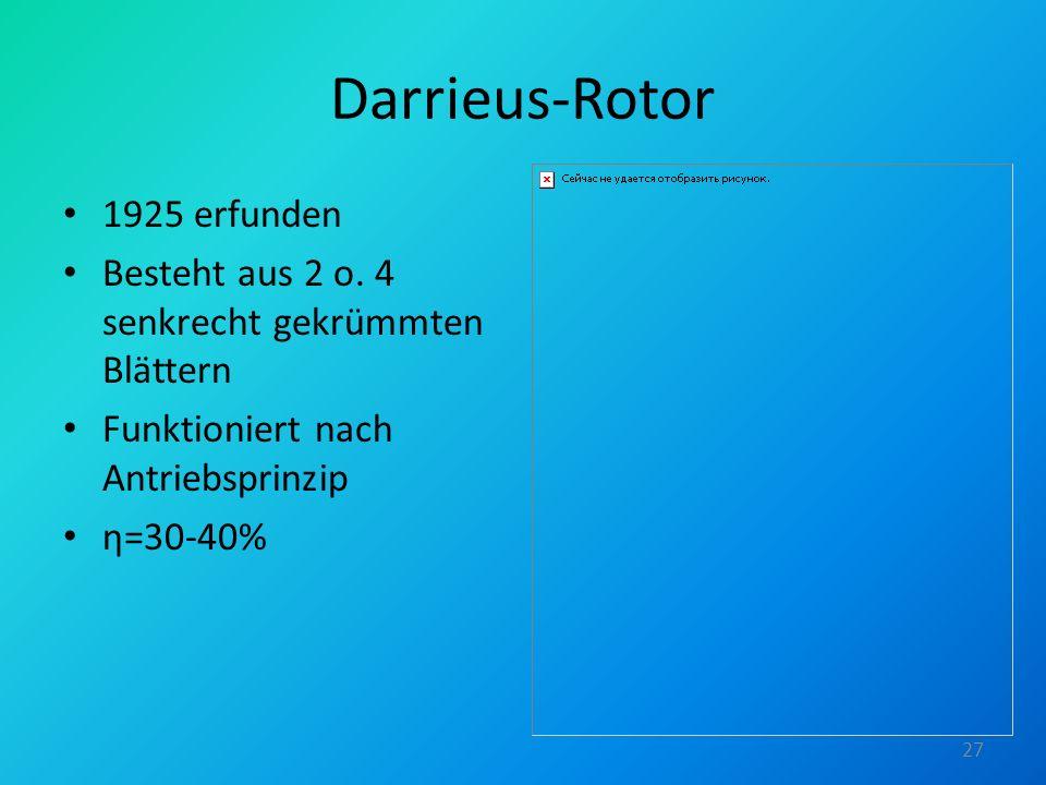Darrieus-Rotor 1925 erfunden