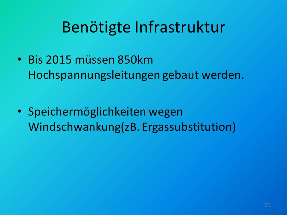 Benötigte Infrastruktur