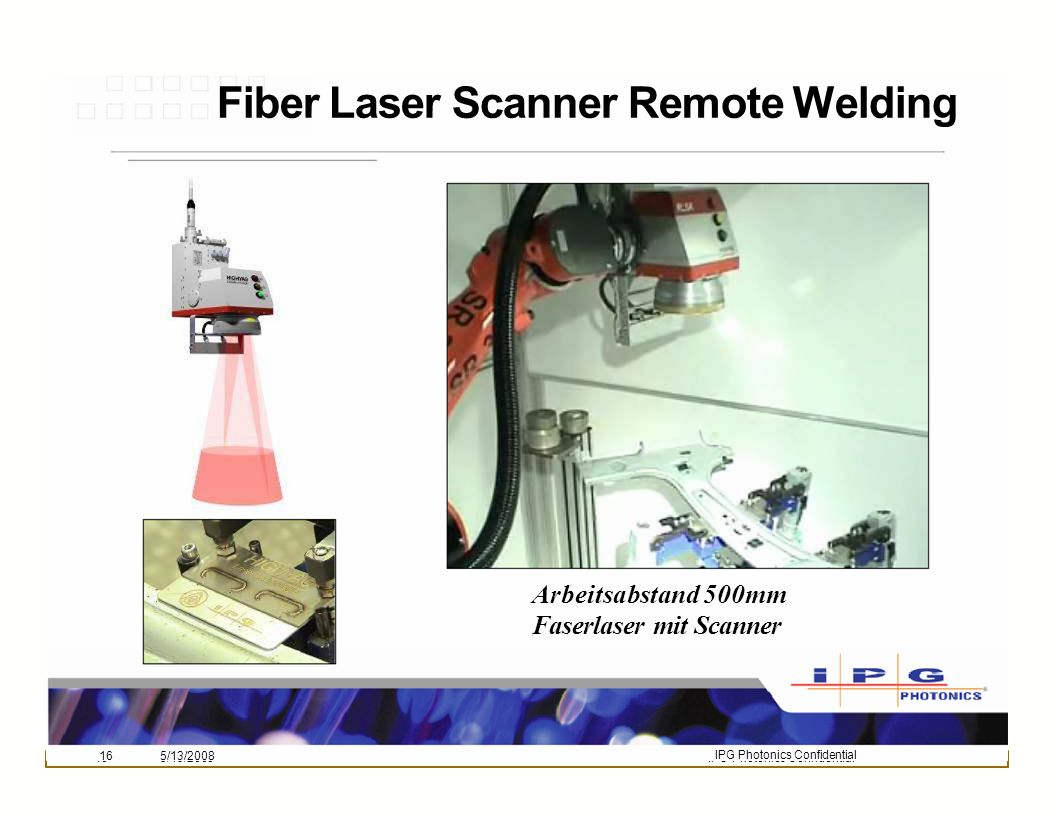 Fiber Laser Scanner Remote Welding