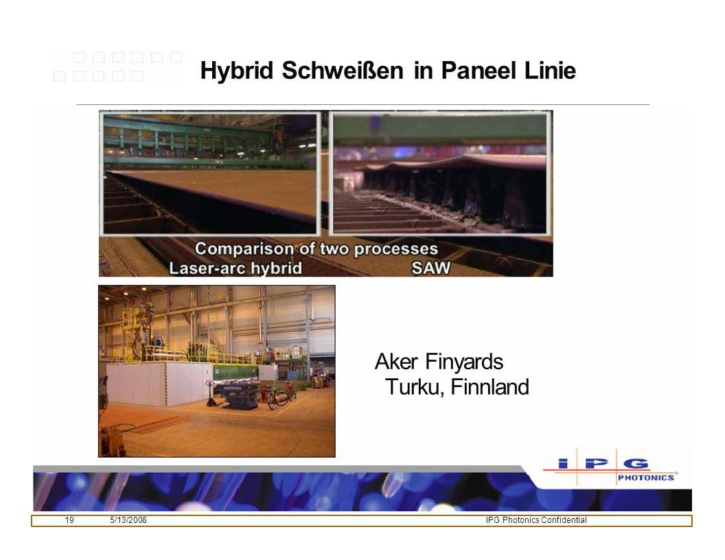 Hybrid Schweißen in Paneel Linie