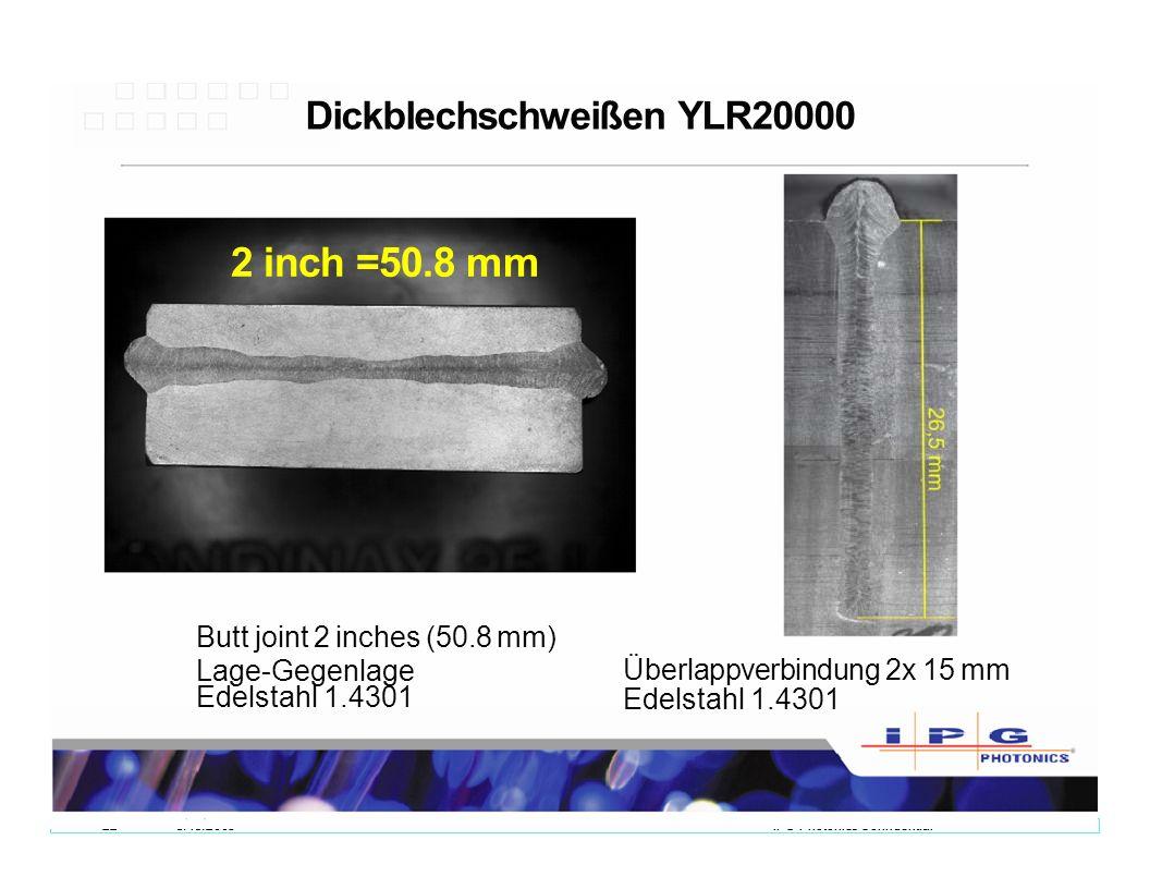 Dickblechschweißen YLR20000
