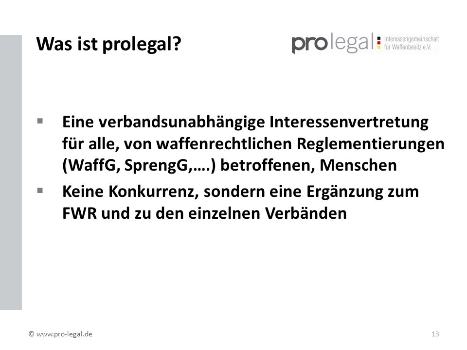 Was ist prolegal