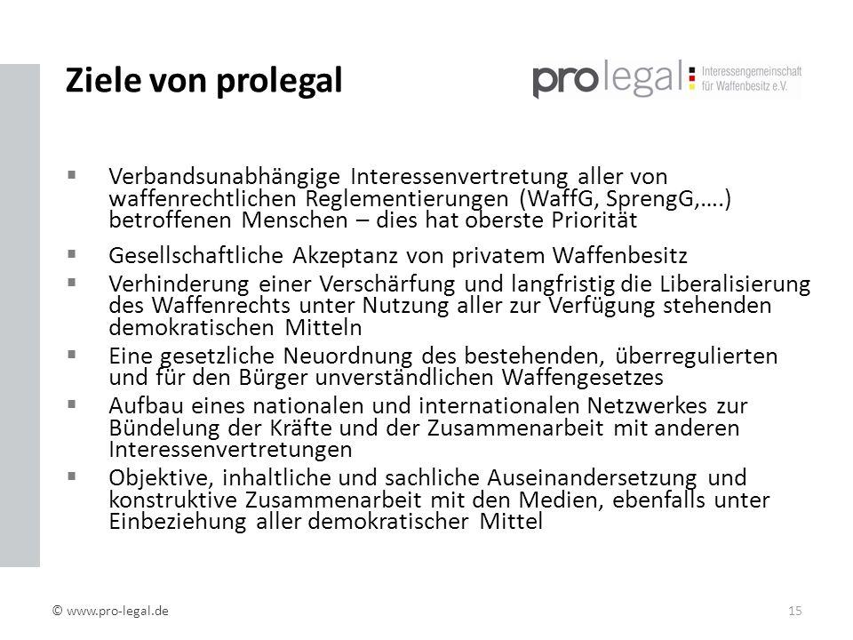 Ziele von prolegal