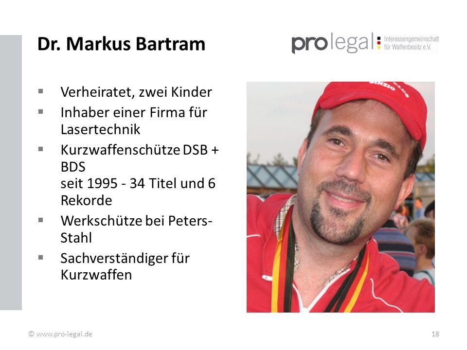 Dr. Markus Bartram Verheiratet, zwei Kinder