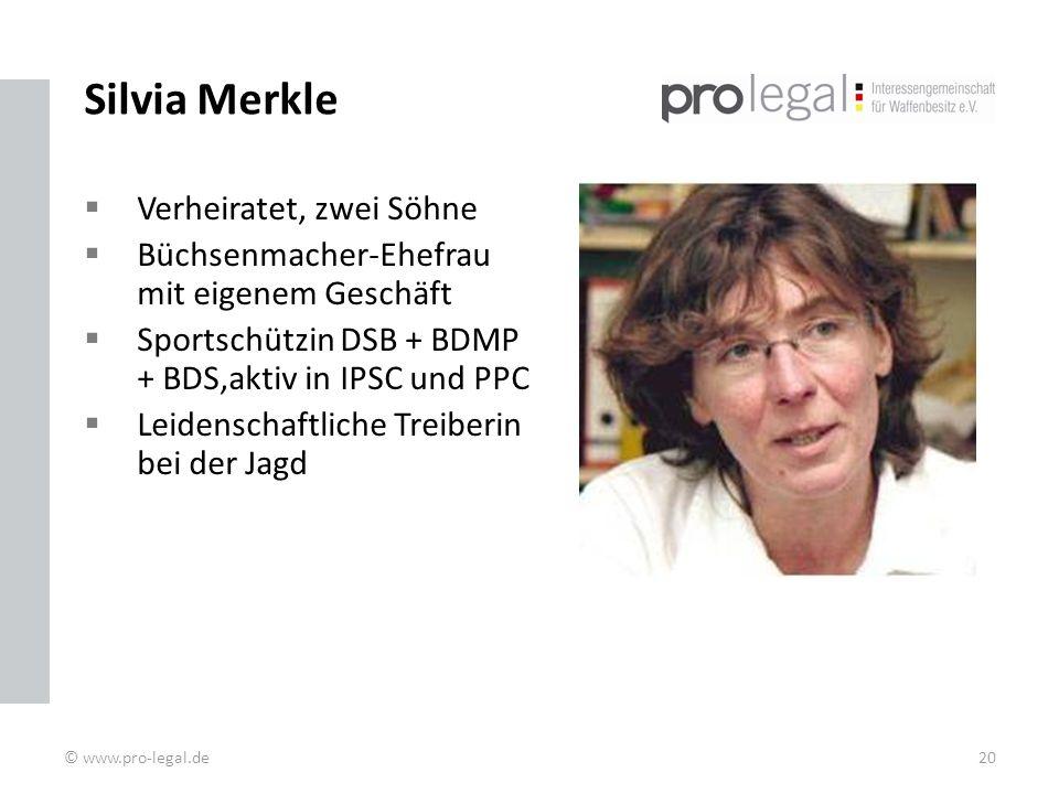 Silvia Merkle Verheiratet, zwei Söhne