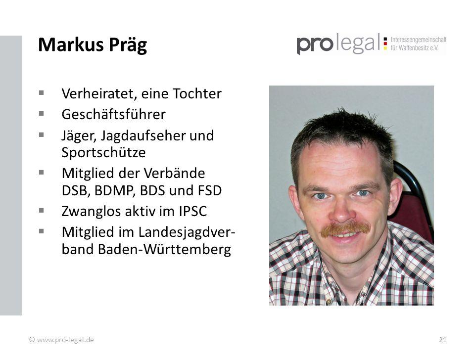 Markus Präg Verheiratet, eine Tochter Geschäftsführer