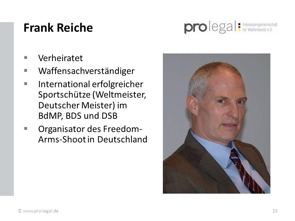 Frank Reiche Verheiratet Waffensachverständiger
