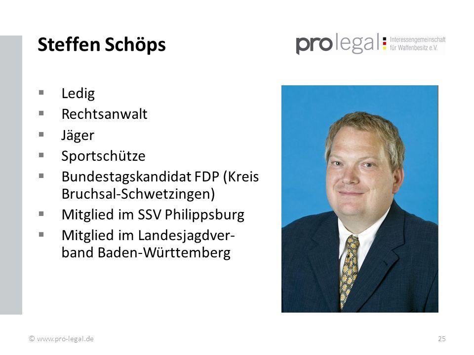 Steffen Schöps Ledig Rechtsanwalt Jäger Sportschütze