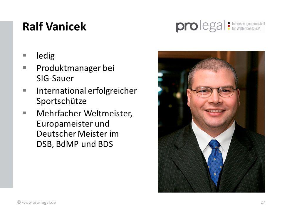 Ralf Vanicek ledig Produktmanager bei SIG-Sauer