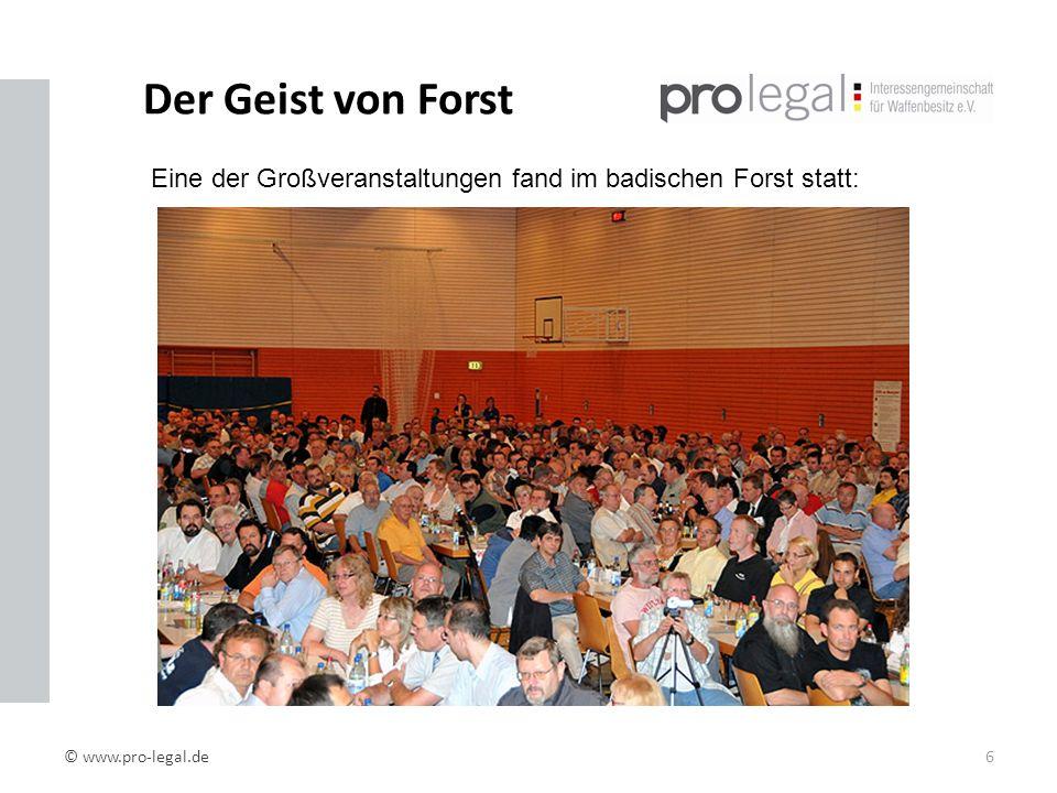 Der Geist von Forst Eine der Großveranstaltungen fand im badischen Forst statt: Eine der Großveranstaltungen fand im badischen Forst statt.