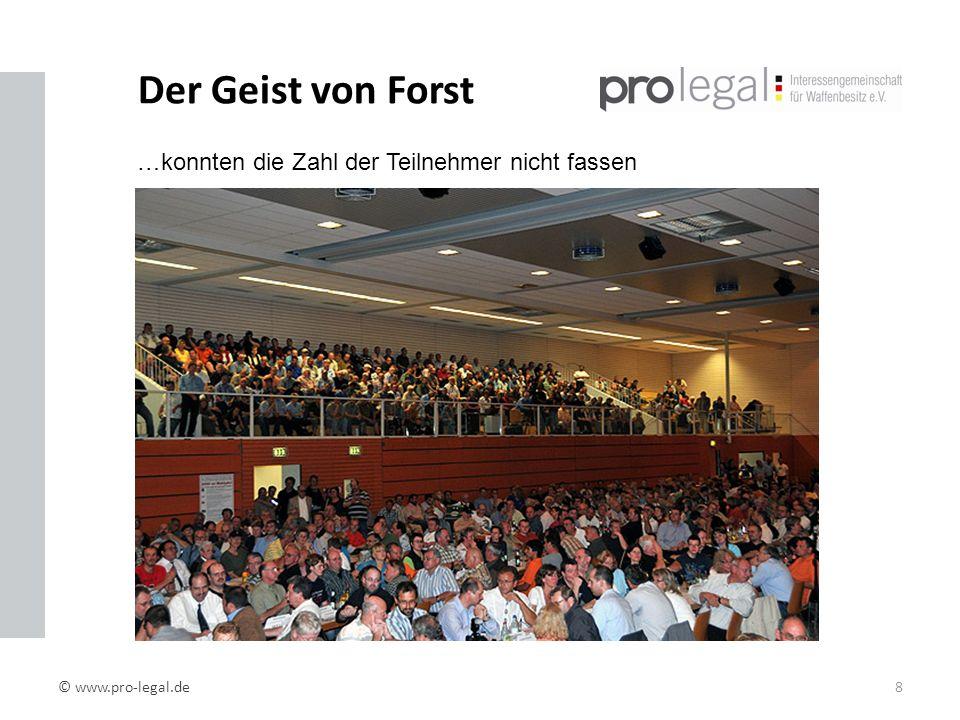 Der Geist von Forst …konnten die Zahl der Teilnehmer nicht fassen
