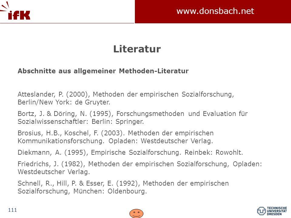 Literatur Abschnitte aus allgemeiner Methoden-Literatur