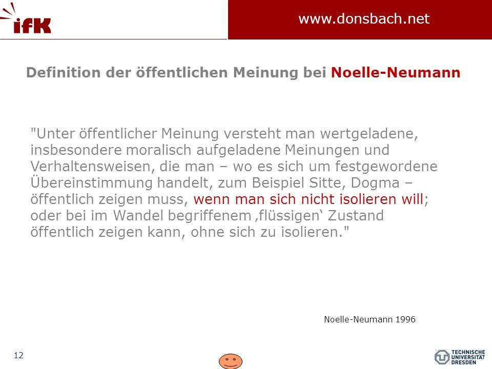 Definition der öffentlichen Meinung bei Noelle-Neumann