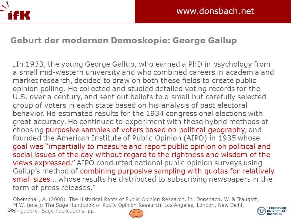 Geburt der modernen Demoskopie: George Gallup