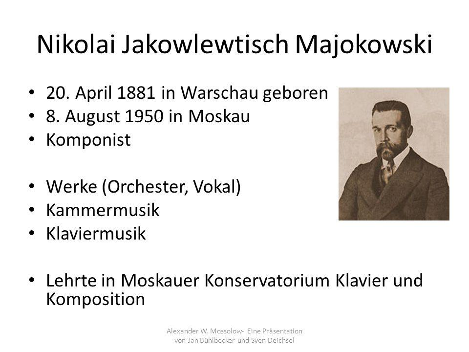 Nikolai Jakowlewtisch Majokowski