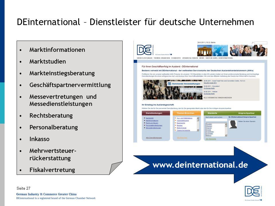 DEinternational – Dienstleister für deutsche Unternehmen