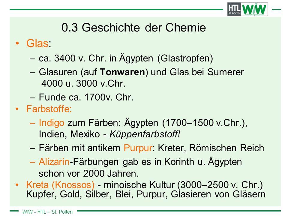 0.3 Geschichte der Chemie Glas: