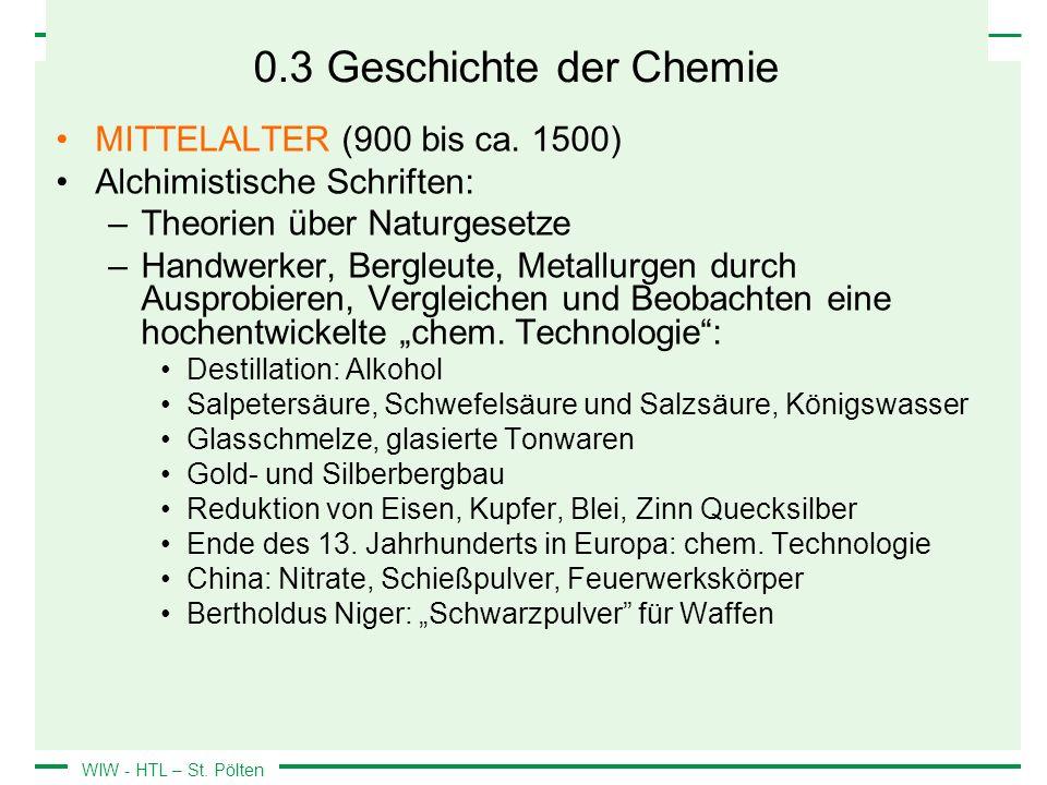 0.3 Geschichte der Chemie MITTELALTER (900 bis ca. 1500)