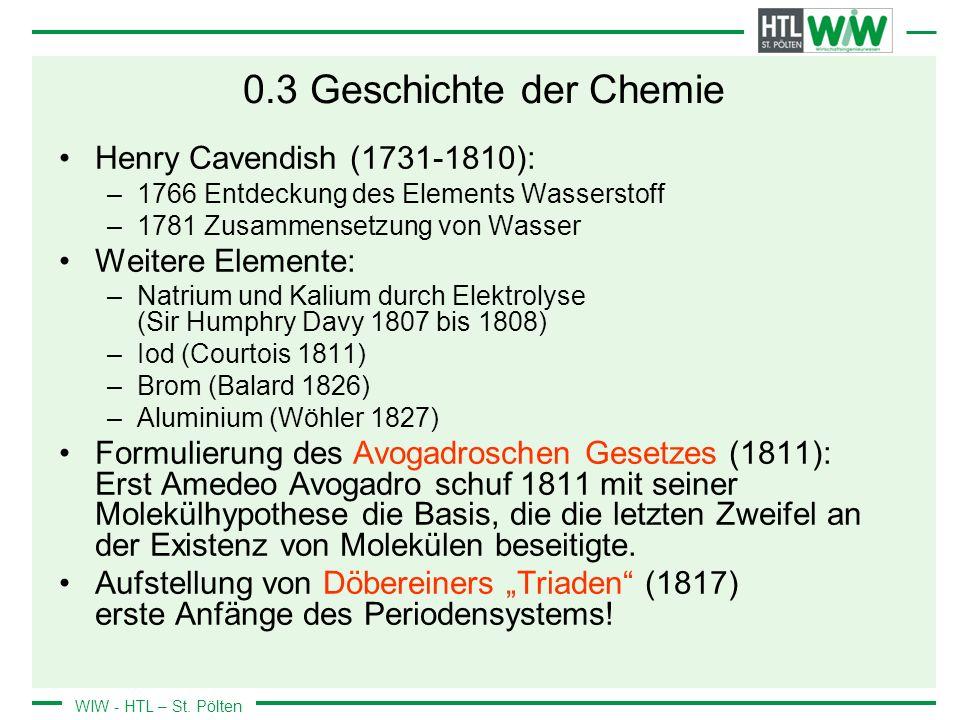 0.3 Geschichte der Chemie Henry Cavendish (1731-1810):