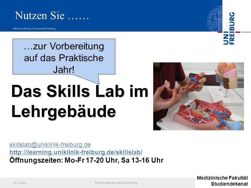 Das Skills Lab im Lehrgebäude