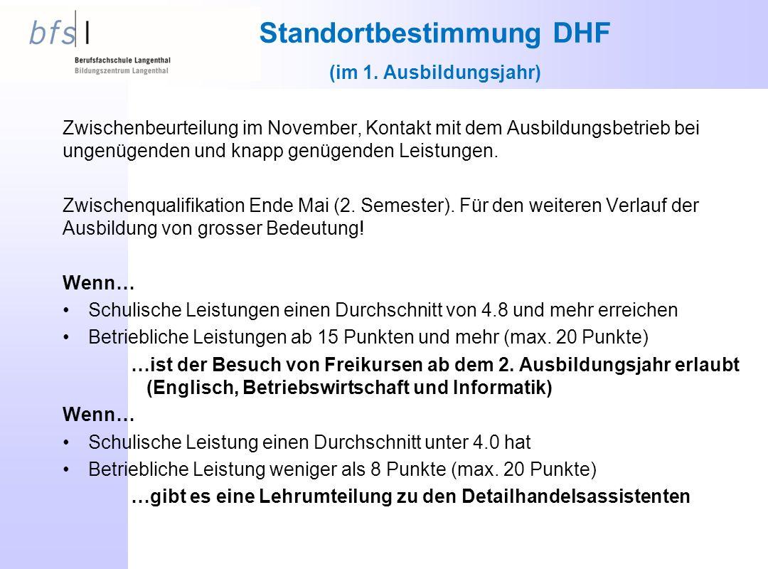 Standortbestimmung DHF