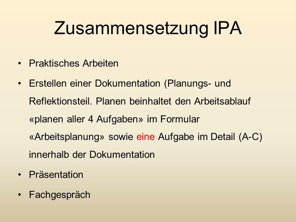 Zusammensetzung IPA Praktisches Arbeiten