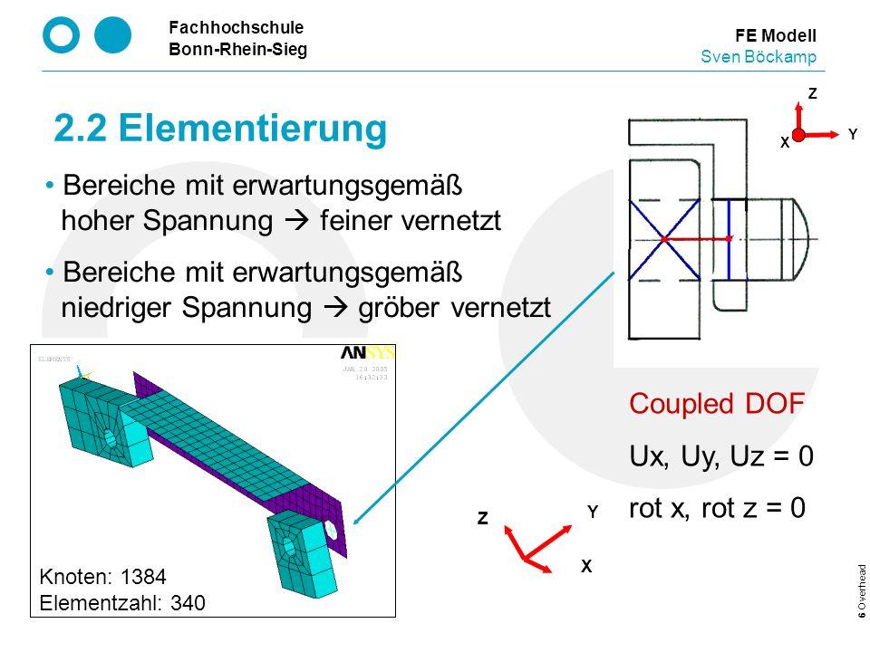 2.2 Elementierung Bereiche mit erwartungsgemäß